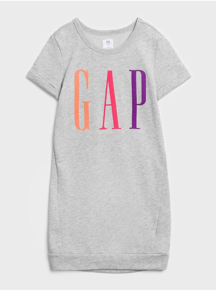Šedé holčičí šaty GAP Logo