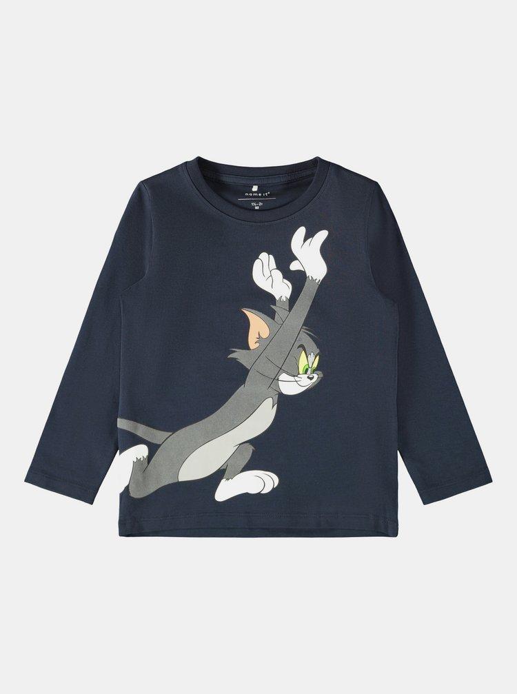 Tmavomodré chlapčenské tričko s potlačou name it