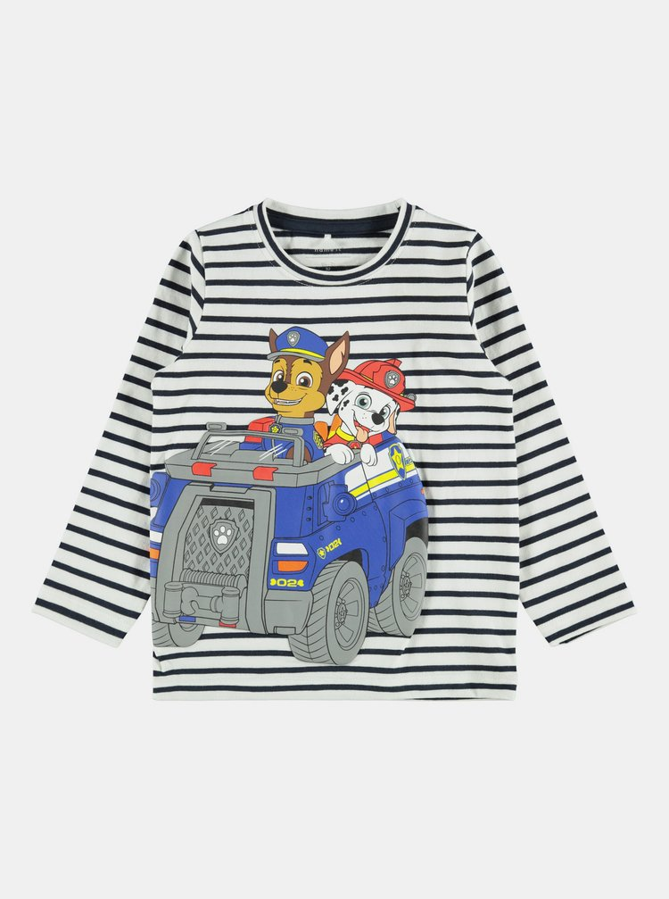 Bílo-modré klučičí pruhované tričko name it