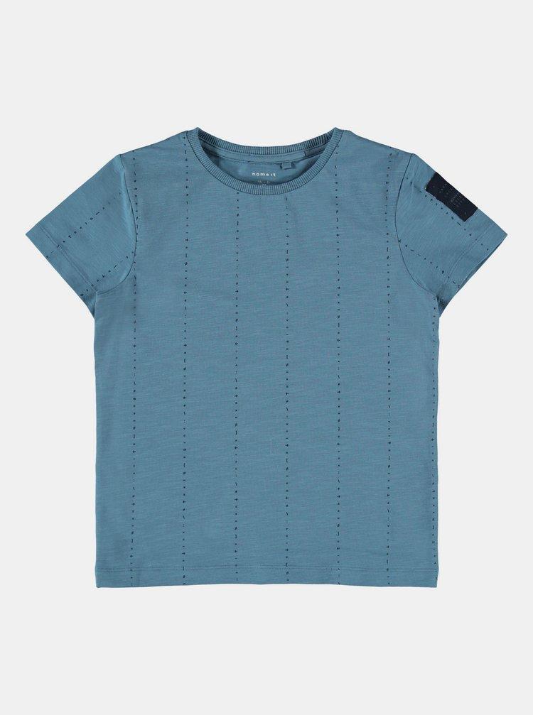 Modré chlapčenské vzorované tričko name it