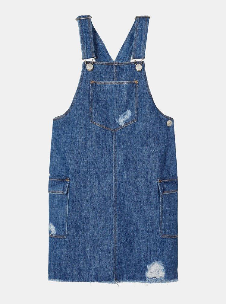 Modré holčičí džínové šaty s laclem name it