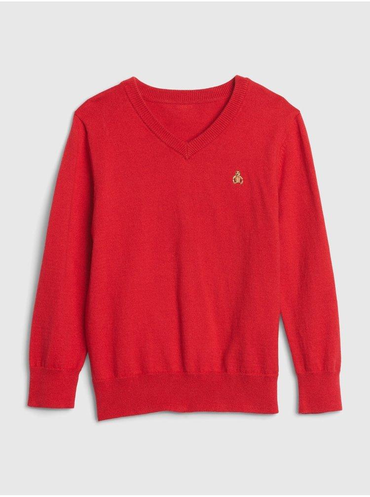 Červený klučičí svetr GAP