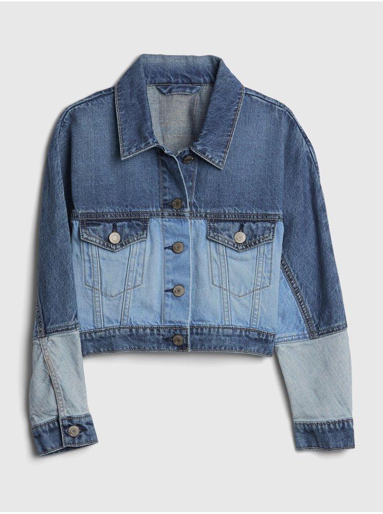 Modrá dievčenská rifľová bunda GAP