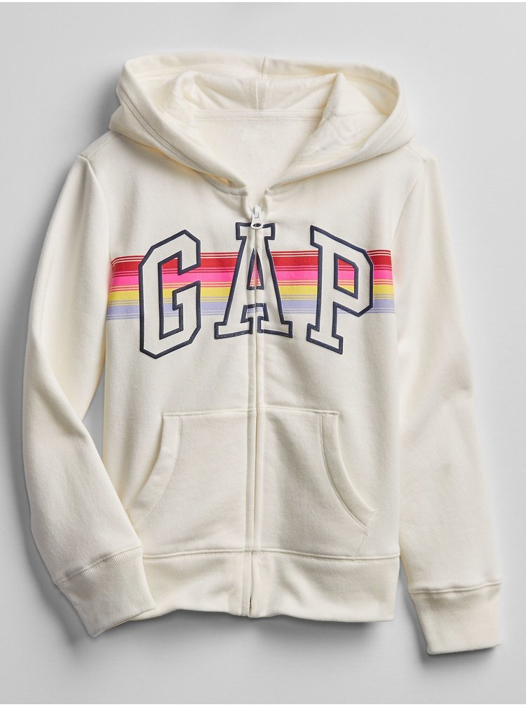 Bílá holčičí mikina GAP logo