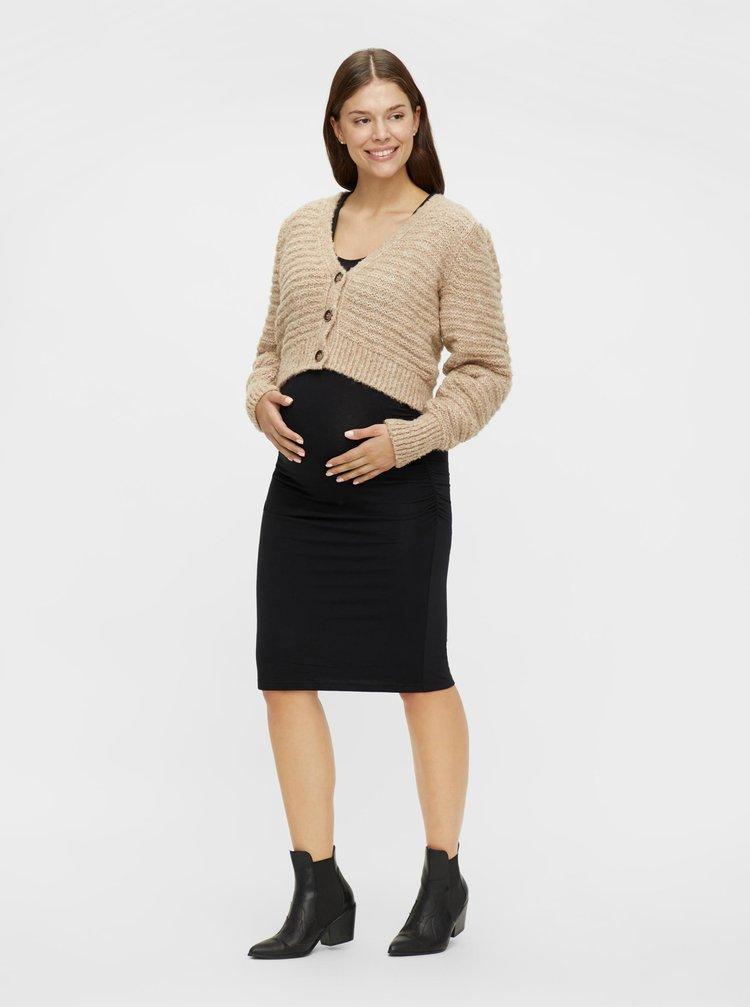 Béžový krátký těhotenský kardigan Mama.licious
