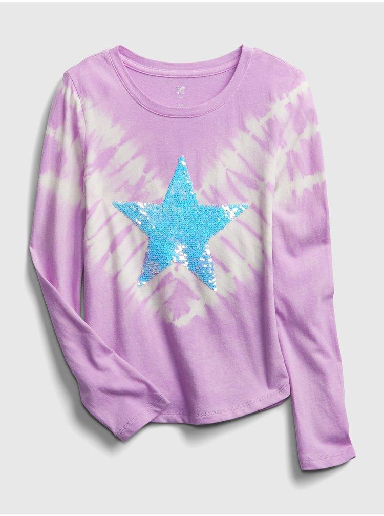 Fialové holčičí tričko GAP