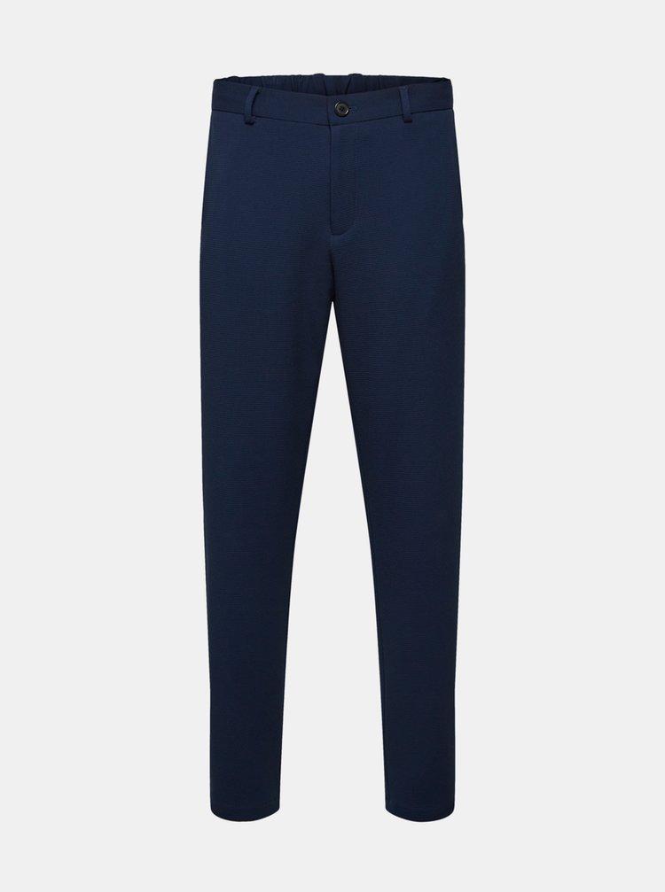Tmavě modré kalhoty Selected Homme