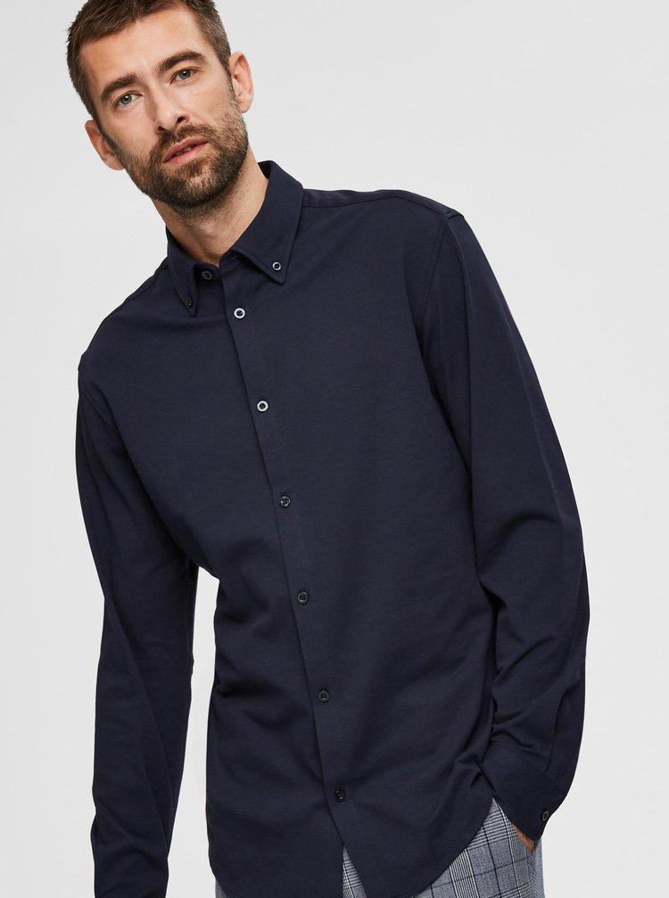 Tmavomodrá košeľa Selected Homme