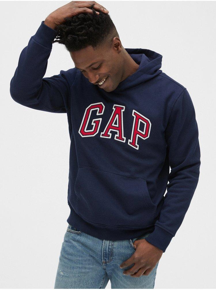 Modrá pánska mikina GAP Logo Hoodie