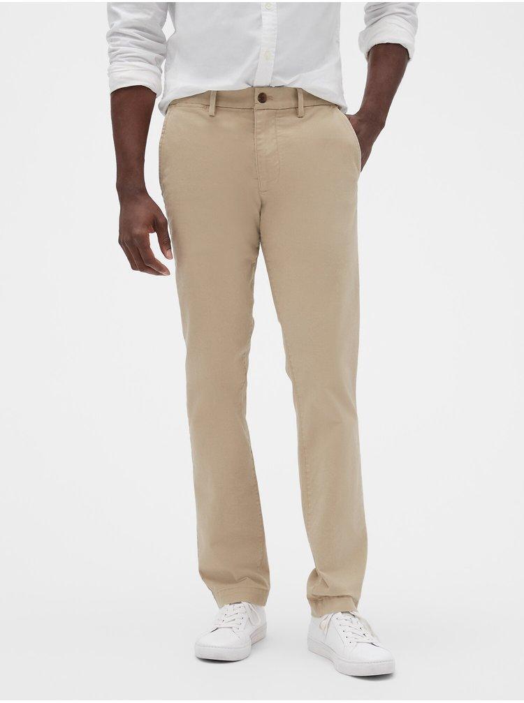 Béžové pánske nohavice GAP Slim Fit