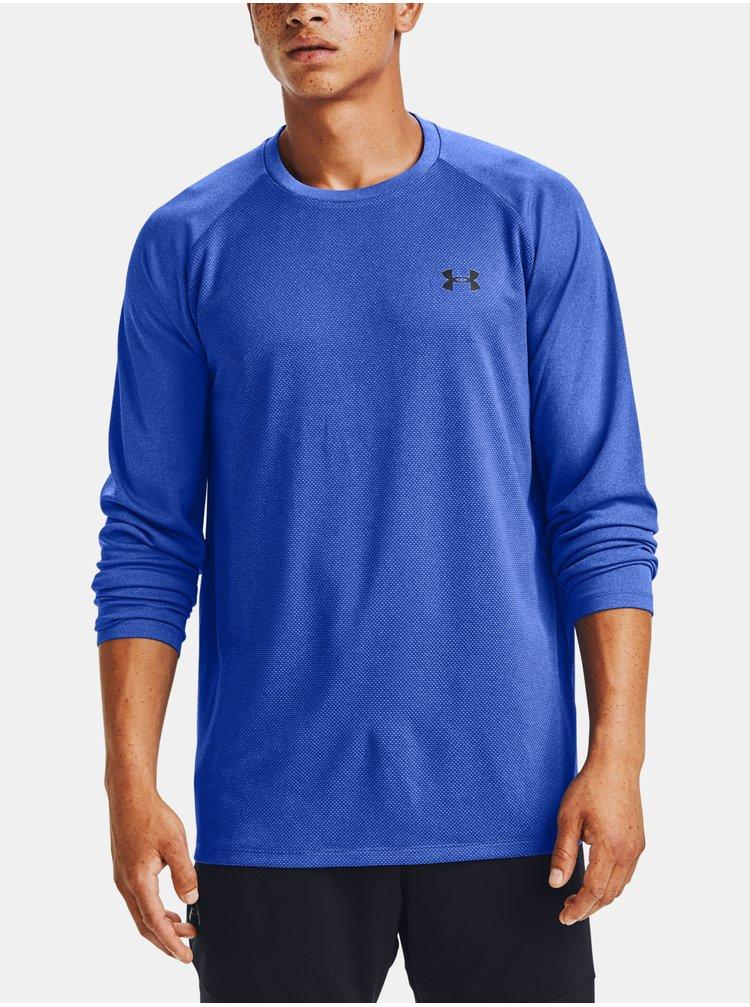 Modré tričko Under Armour Textured LS