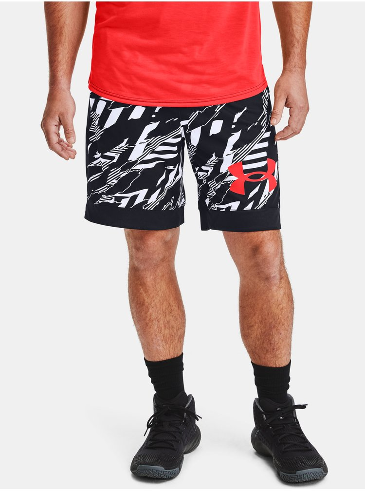 Čierne kraťasy Under Armour PRINTED RETRO SHORT