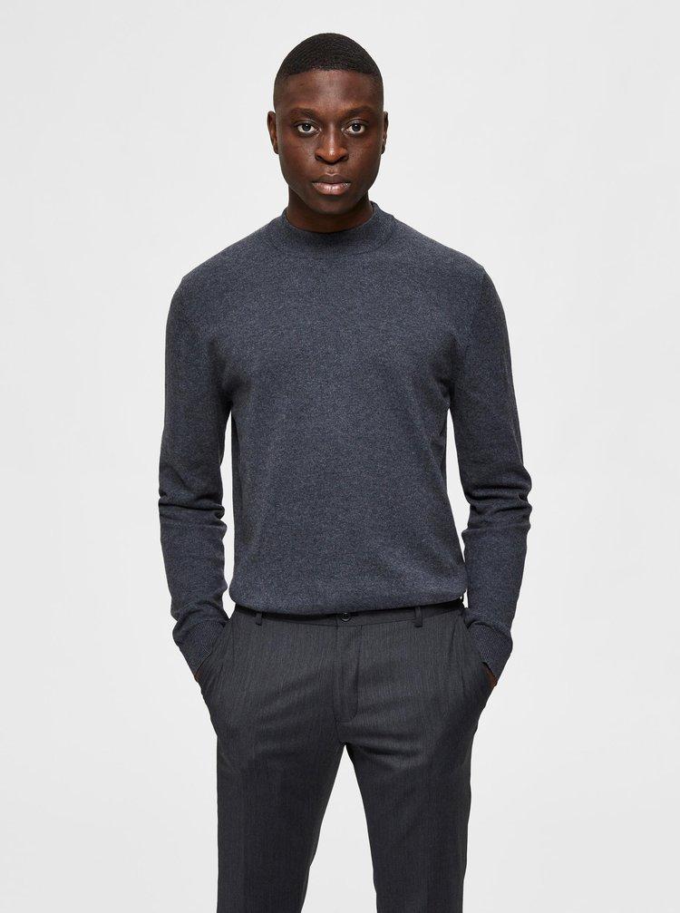 Šedý svetr s příměsí kašmíru Selected Homme