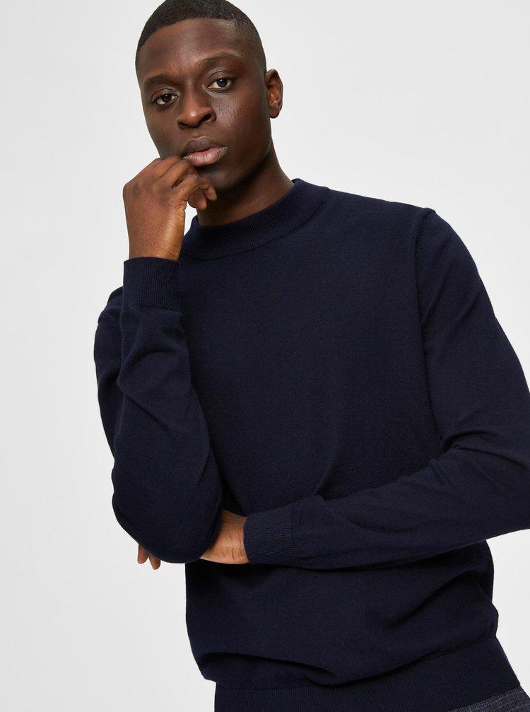 Tmavě modrý svetr s příměsí kašmíru Selected Homme