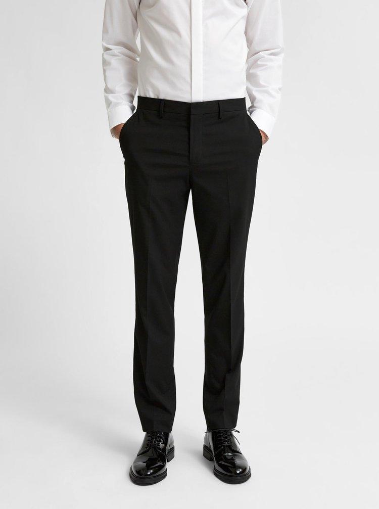 Černé oblekové kalhoty Selected Homme