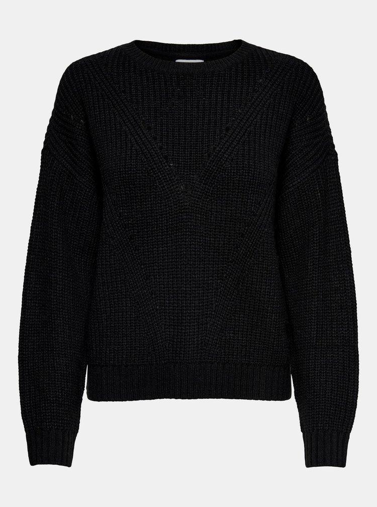 Čierny sveter Jacqueline de Yong Shiny