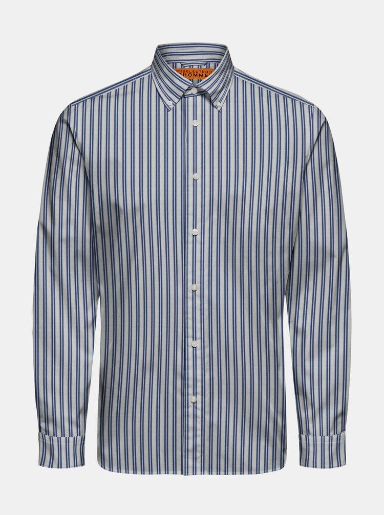 Modro-bílá pruhovaná košile Selected Homme