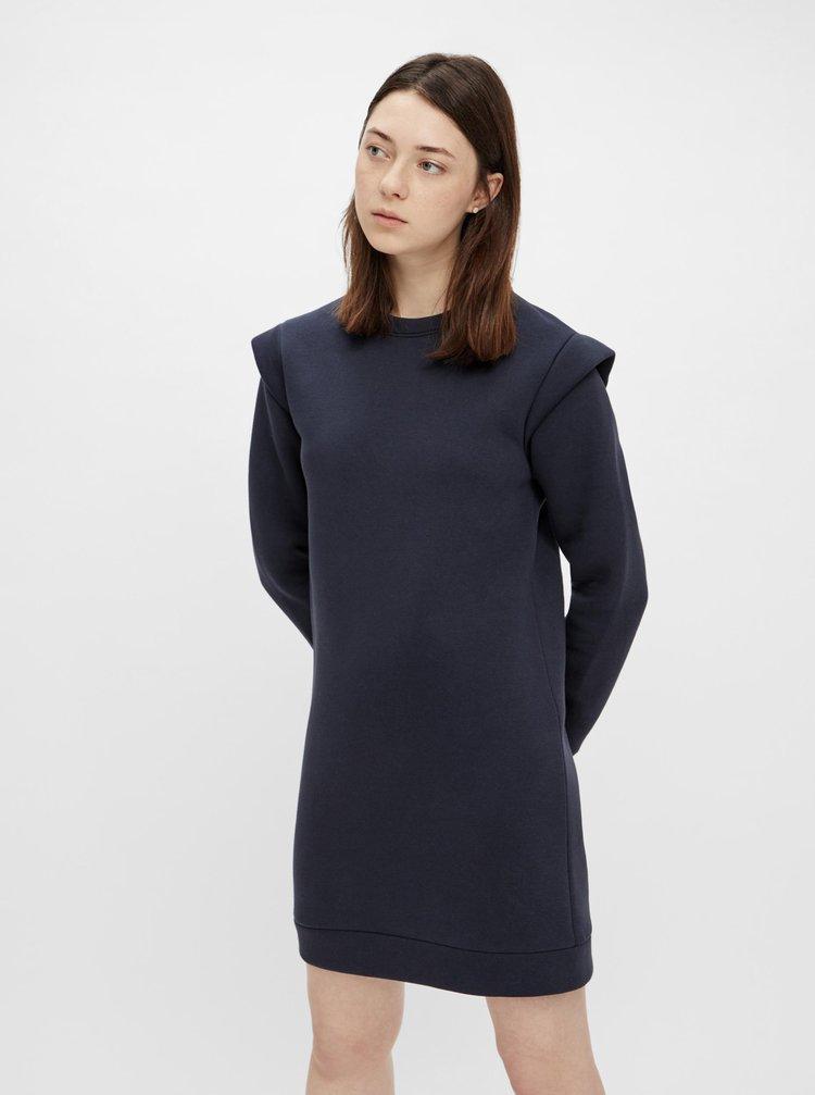 Tmavě modré mikinové šaty Pieces