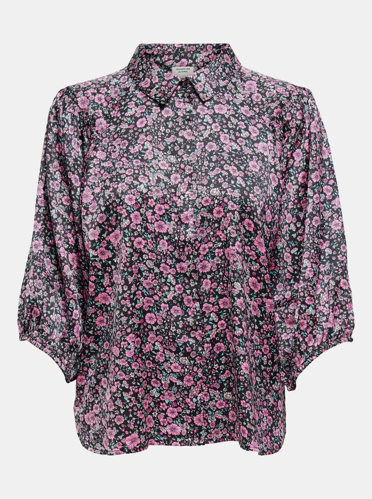Černá květovaná košile Jacqueline de Yong Juliette