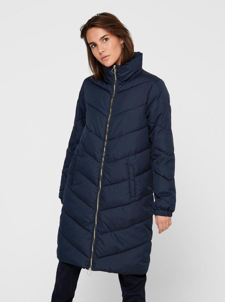 Modrý prešívaný kabát Jacqueline de Yong Finno