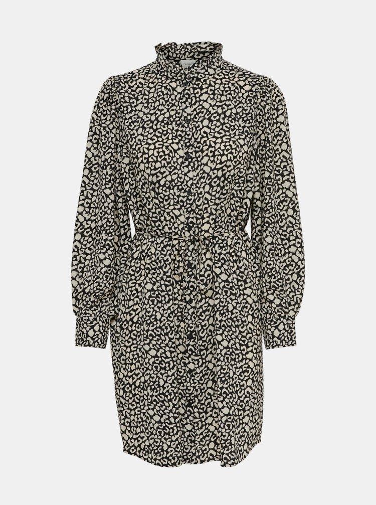 Šedé vzorované košeľové šaty Jacqueline de Yong Milo