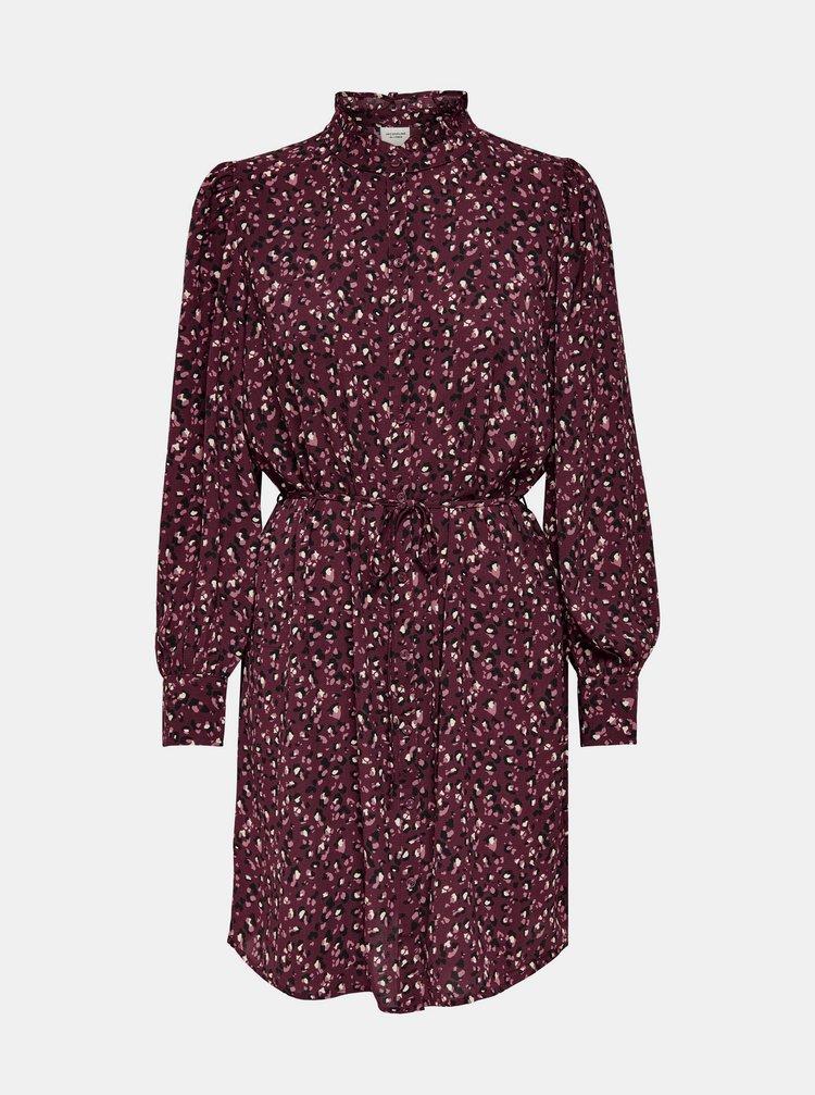 Fialové vzorované košeľové šaty Jacqueline de Yong Milo