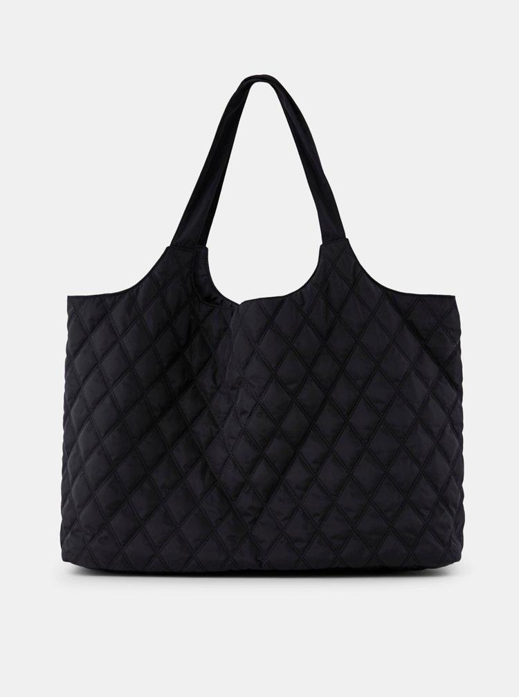 Černá prošívaná taška Pieces