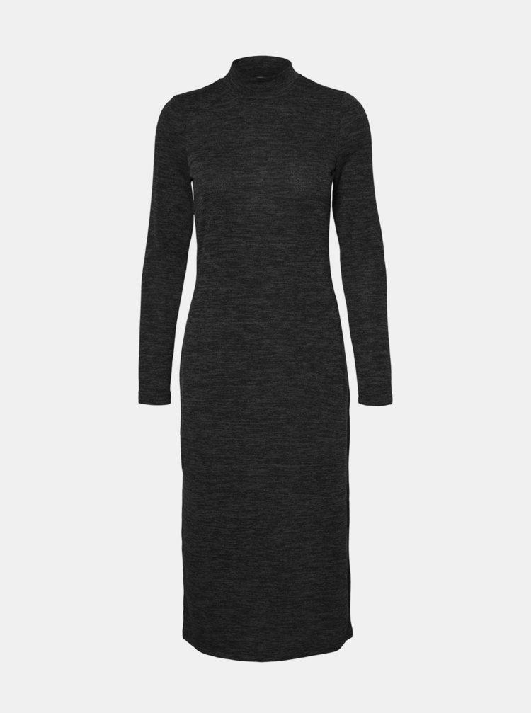 Černé svetrové šaty Noisy May Cristina