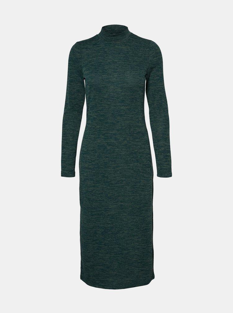 Zelené svetrové šaty Noisy May Cristina