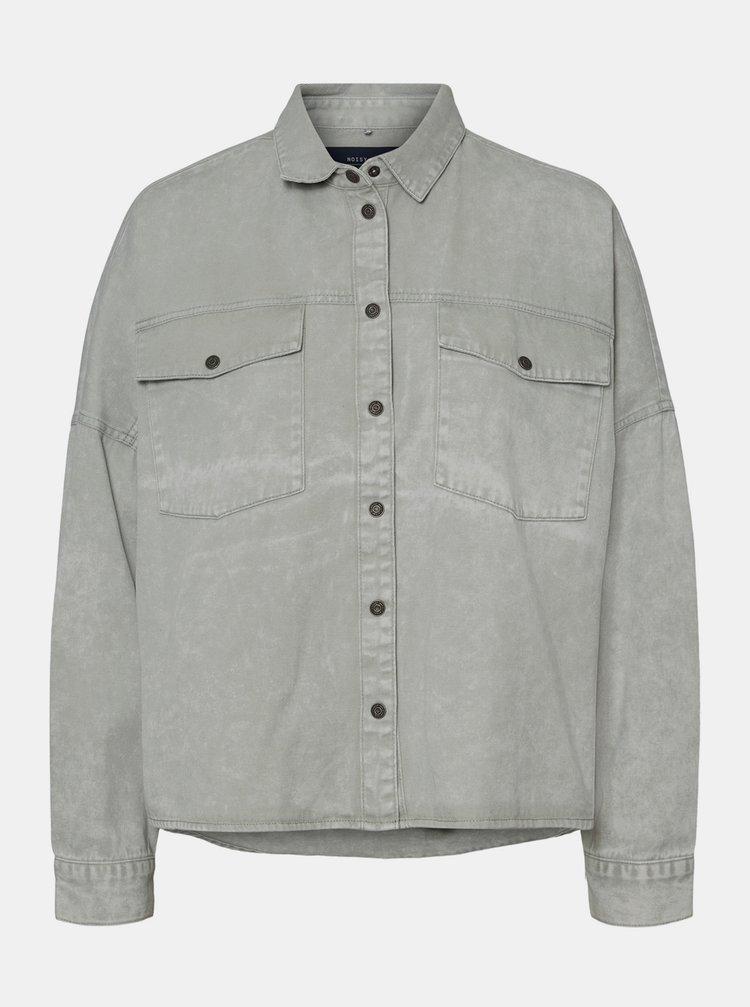 Šedé džínová košile Noisy May Rica