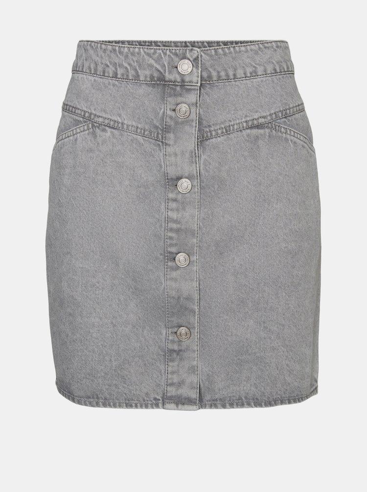 Šedá džínová sukně Noisy May Be June