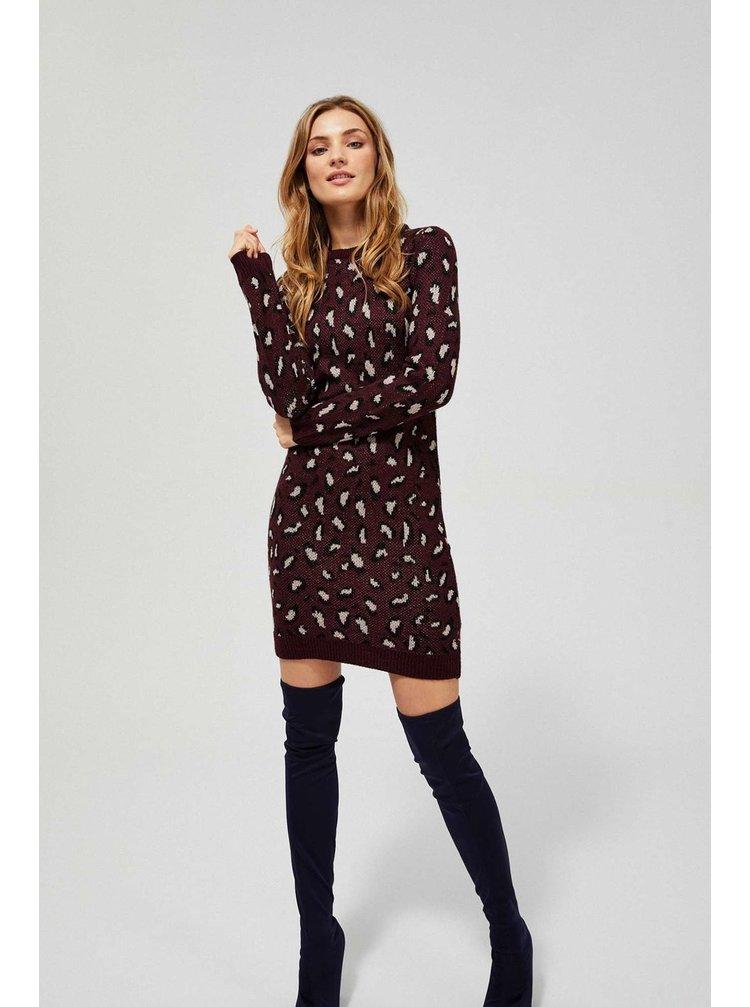 Moodo vínové/bordové šaty