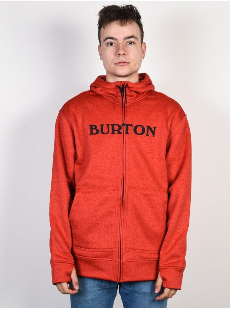 Burton OAK FLAME SCARLET HTR pánská mikiny na zip - červená