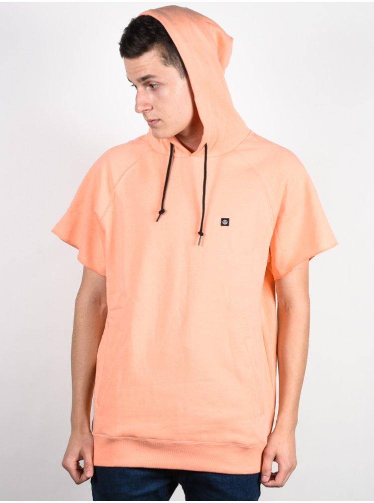 Neff SWILL peach mikiny přes hlavu pánská - oranžová