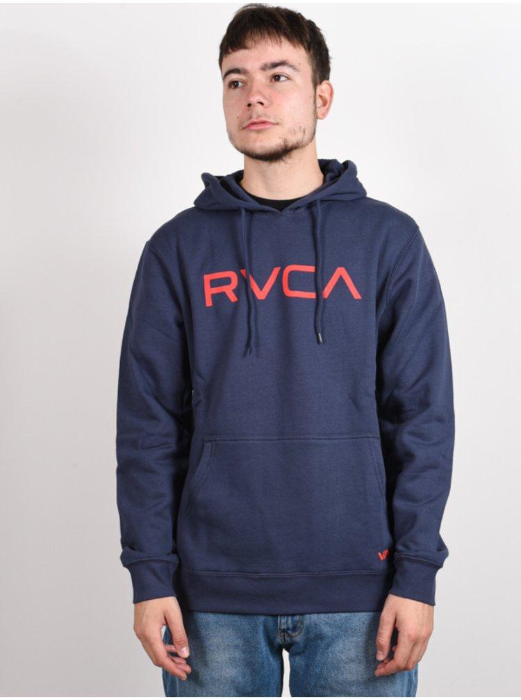 RVCA BIG RVCA MOODY BLUE mikiny přes hlavu pánská - modrá