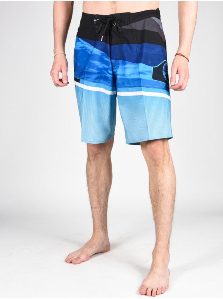 Quiksilver SLASH LOGO 20 estate blue pánské kraťasové plavky - modrá