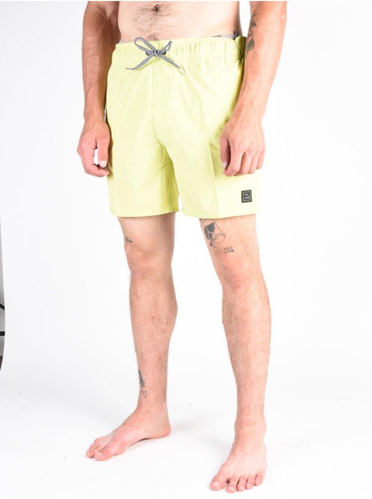 Volcom Case Stoney 16 Shadow Lime pánské kraťasové plavky - žlutá