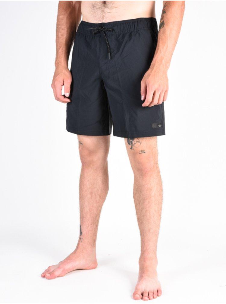 Oakley ACE VOLLEY 18 blackout pánské kraťasové plavky - černá
