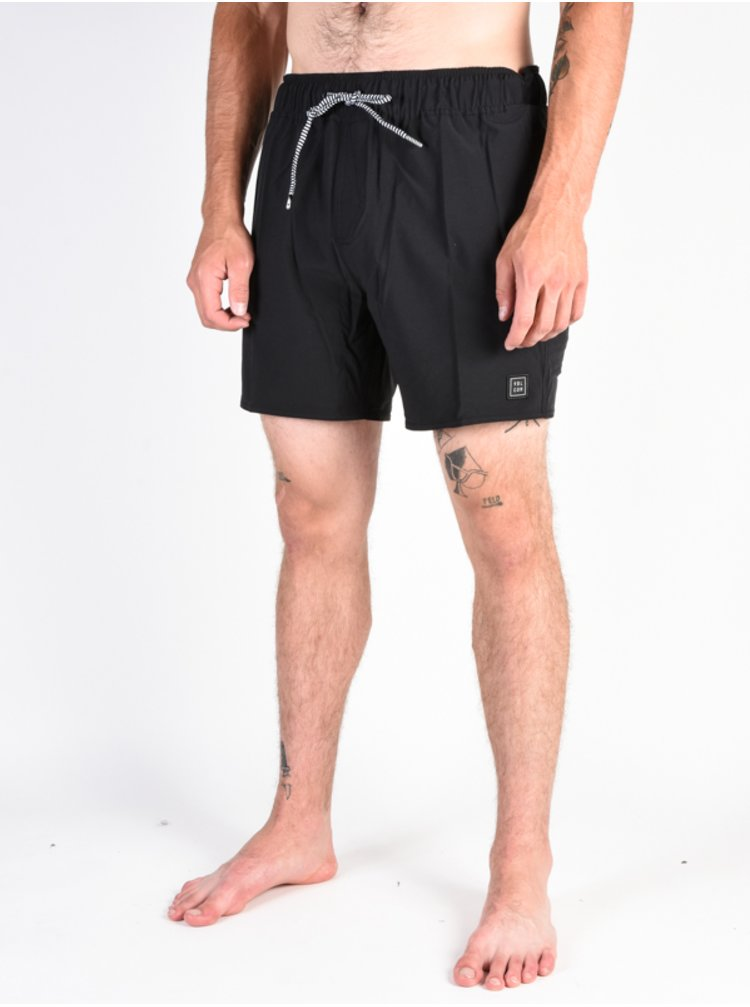 Volcom Case Stoney 16 black pánské kraťasové plavky - černá