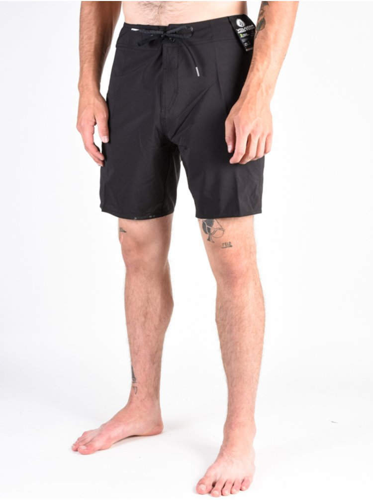 Volcom Lido Solid Mod black pánské kraťasové plavky - černá