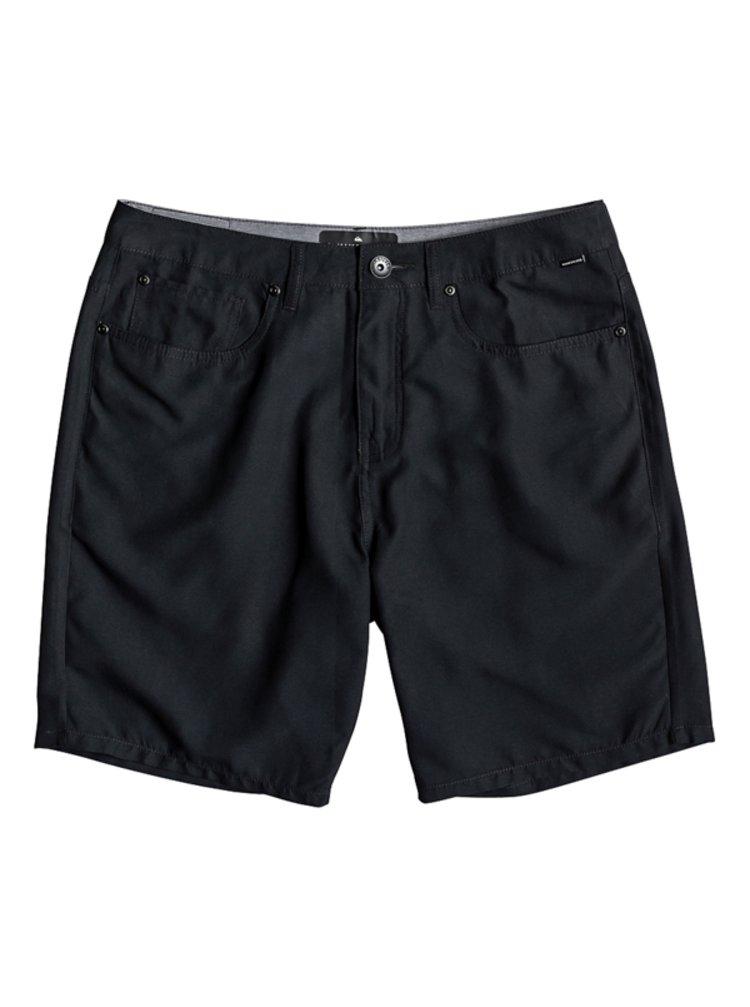 Quiksilver Nelson Surfwash black pánské kraťasové plavky - černá