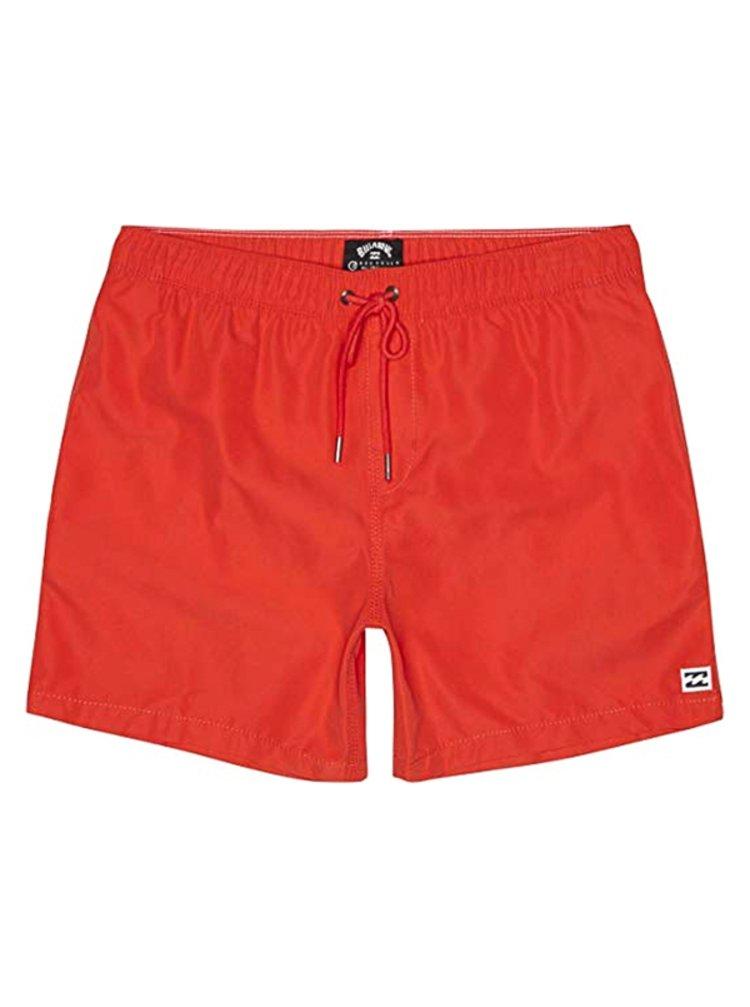 Billabong ALL DAY RED HOT pánské kraťasové plavky - červená