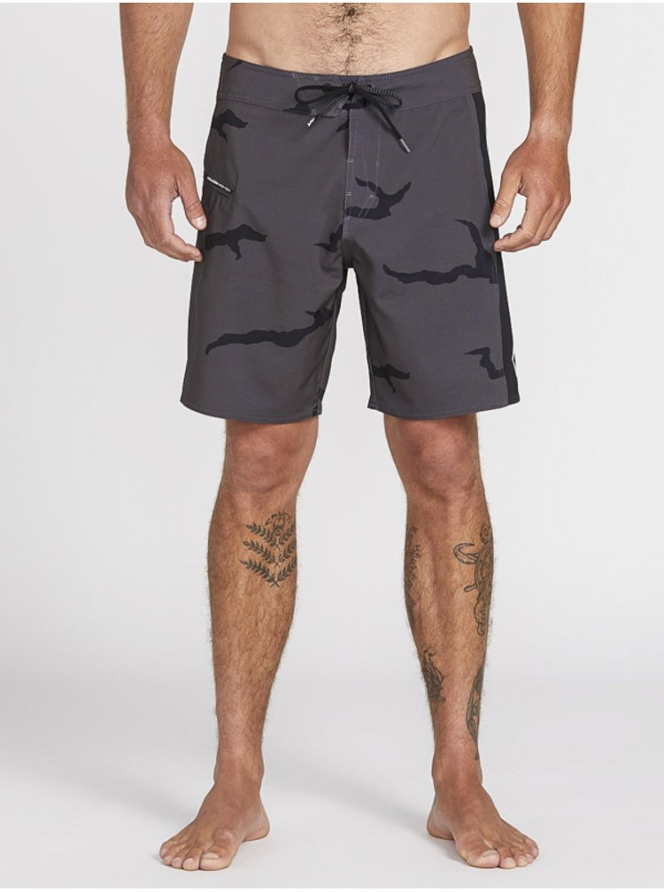 Volcom Deadly Stones Mod DARK CHARCOAL pánské kraťasové plavky - šedá