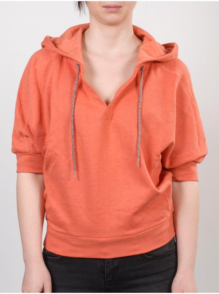 Element DOVER                CORAL mikina dámská - oranžová