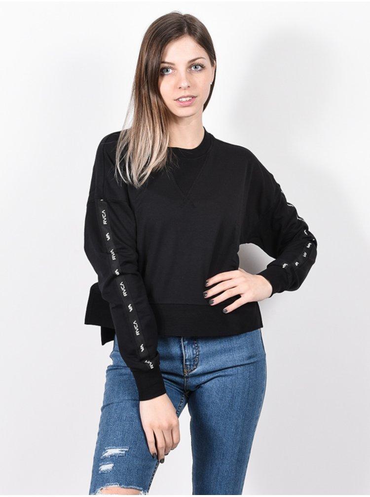 RVCA CLASSIC black mikina dámská - černá