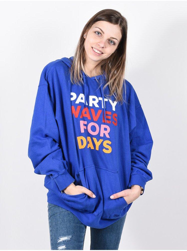 Billabong PARTY WAVE SAPHIRE BLUE mikina dámská - modrá