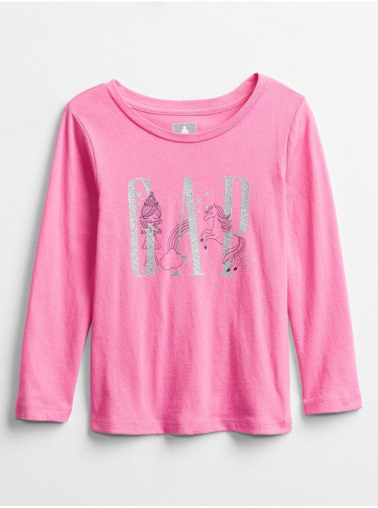 Růžové holčičí tričko GAP Logo Graphic