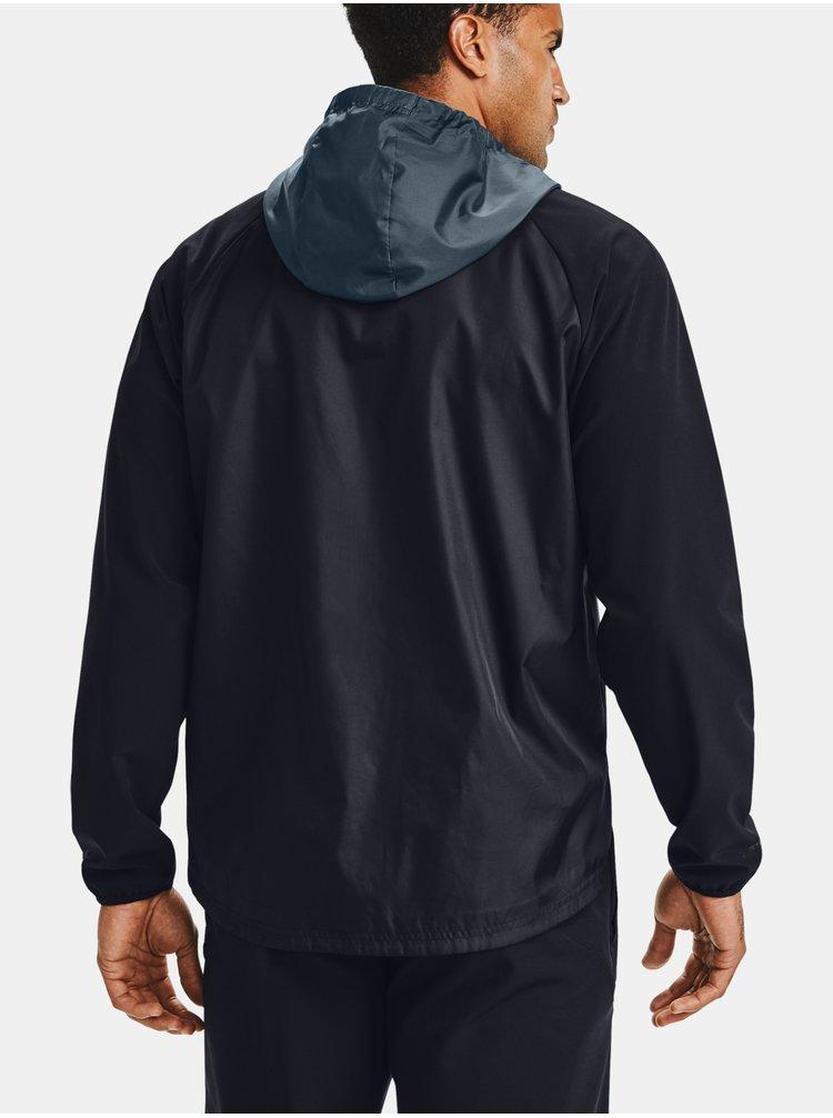 Čierná bunda Under Armour STRETCH-WOVEN HOODED JACKET