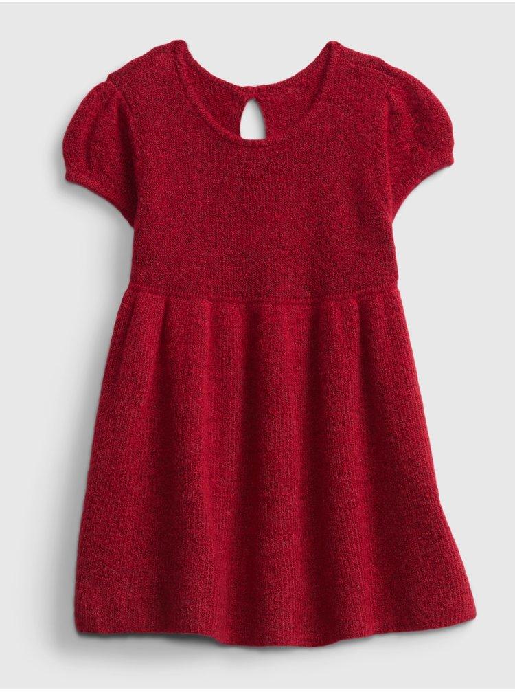 Červené dievčenské šaty GAP