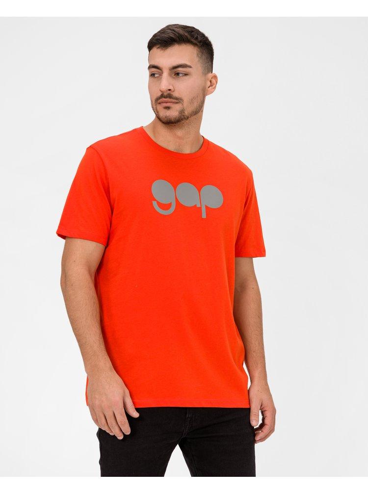 Oranžové pánské tričko GAP Logo
